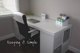 diy craft table ikea ikea hack diy computer desk with kallax shelves keeping it simple