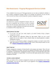 rize homesource property management services in utah by rize