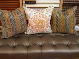 Ottoman Pillows Leather Ottoman Pillows Curtain Couture