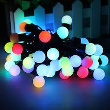 color changing led rgb ball string christmas xmas lights http