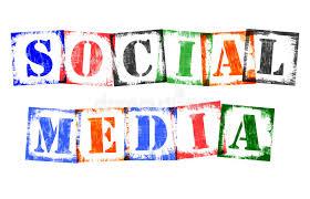 buchstaben design wort social media den stempel buchstaben retro schmutz