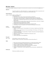 exle of assistant resume pleasant office administrative resume about objective for