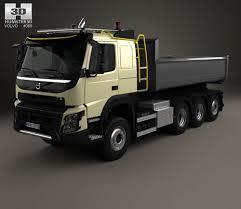 volvo 2013 truck volvo fmx tipper truck 2013 3d model hum3d