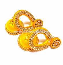 jhumkas earrings stylish handmade silk thread jhumkas earrings indian fashion