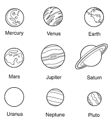 free printable planet coloring pages kids