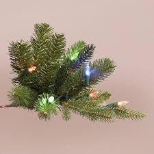 Ge Pre Lit 7 U0027 by Ge 7 Ft White Winter Berry Branch Artificial Christmas Tree With