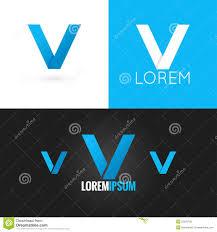 letter d logo design icon set background stock vector image
