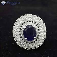 stone finger rings images Prakash american diamond finger rings with stone rs 2100 piece jpg