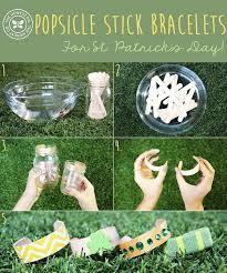 diy popsicle stick bracelets u2026for st patrick u0027s day diy