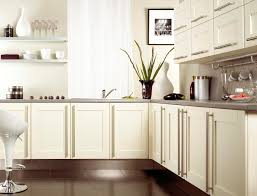 broken white kitchen cabinet in l shape style design combined with