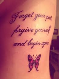 quote with butterfly tattoos