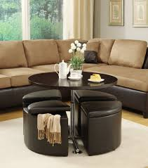 Coffee Table Pedestal Inspiring Black Leather Ottoman Coffee Table For Your Living Room