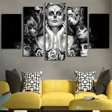 Wall Decor Canvas 2017 Home Decor Sugar Skull Picture Painting Wall Art Room