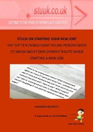 stuuk on starting your new job the top ten things every young