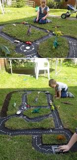Backyard Rc Track Ideas Rc Tracks Built Into Yard Landscape Present Day Backyard Projects