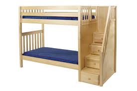 Maxtrix High Bunk Bed WStaircase On End TwinTwin - High bunk beds