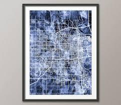 Maps Omaha Omaha Map Omaha Nebraska City Map Art Print 3211 City Maps