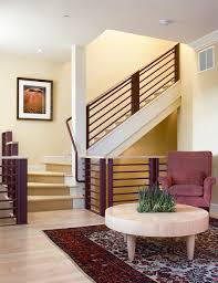 stair treads carpet staircase contemporary with black accent wall