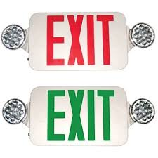 exit emergency light combo industrial electrical supply morris products
