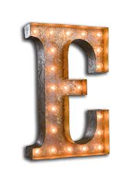 Metal Letters Home Decor by Vintage Marquee Light Letter E Vintage Marquee Lights