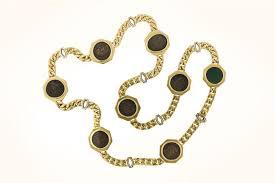 coin necklace vintage images Vintage bulgari gold coin necklace m khordipour jpg