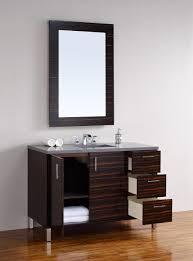 Metropolitan Cabinets And Countertops Abstron 48 Inch Metropolitan Ebony Finish Single Modern Bathroom