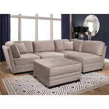 Sectional Living Room Sets Leyla 5 Fabric Modular Sectional Living Room Set