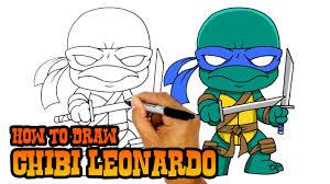 draw leonardo teenage mutant ninja turtles