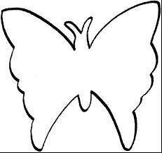 simple butterfly coloring pages clipart butterfly outline