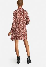 casual high end brand glamorous paisley shirt dress cream