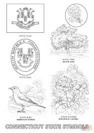 connecticut state symbols coloring page free printable coloring