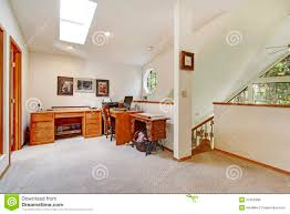 Office Wall Design Upstairs Office Room Open Wall Design Idea Stock Image Image