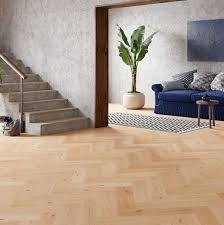 Oak Oiled Herringbone Engineered Parquet - Herringbone engineered wood flooring