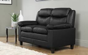 Metro Small Black Leather  Seater Sofa Only  Furniture - Small leather sofas for small rooms 2