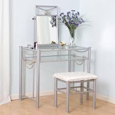 Nice Vanity Sets Nice Glass Metal Bedroom Vanity Table Design Have Flower Vase On
