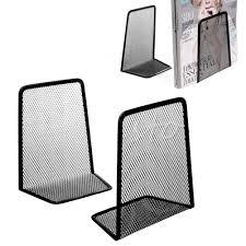 Black Wire Mesh Desk Accessories 1 Pair Portable Black Metal Mesh Reading Desk Organizer Desktop