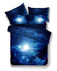 4 pic 100 cotton queen galaxy bedding set duvet cover fitted