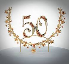 50th cake topper pictures 1 of 21 gold 50 cake toppers with diamonds photo