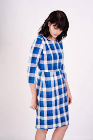fair trade dress with blue checks by bibico