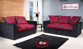 Red And Black Sofa by Chenille Fabric Sofa Set Groupon Goods