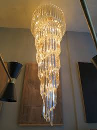 large murano spiral cascade chandelier at 1stdibs