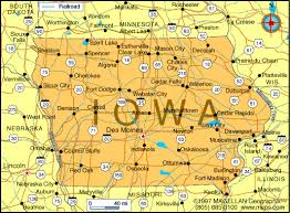 state of iowa map what is the size of iowa dimensions info