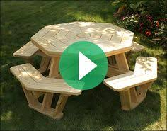 treated pine octagon walk in picnic table u2026 pinteres u2026