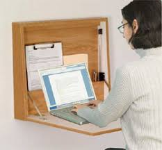 Fold Up Laptop Desk Wall Mounted Folding Desk Oak Finish