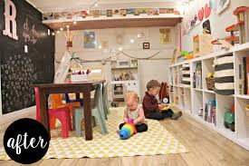 a whimsical basement playroom project nursery