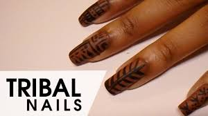 simple tribal nails with a nice surprise youtube