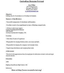 17 custodian resume skills cover letter examples samples free