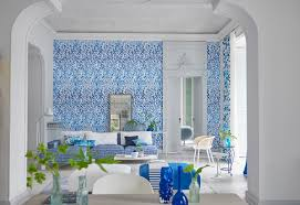 designers guild arabesque cobalt wallpaper spring summer 2017