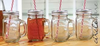 amazon com circleware glass mason jar mugs with metal lids
