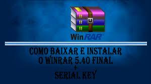 winrar 5 40 pro serial key pt br youtube